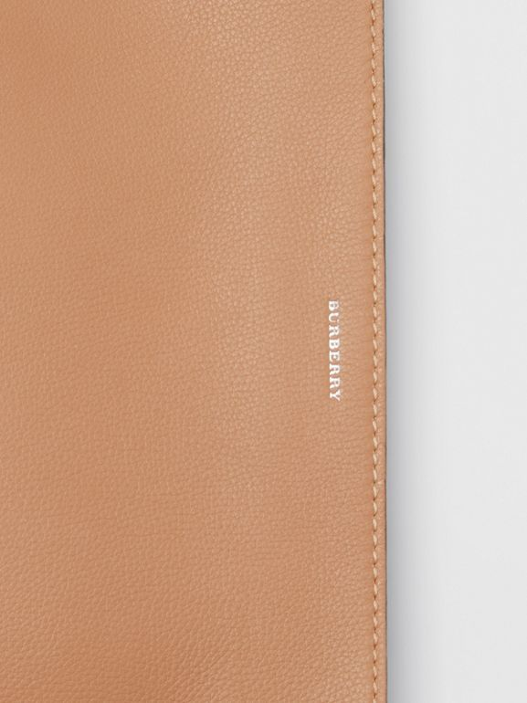 Medium Two-tone Leather Clutch in Light Camel/chalk White - Women | Burberry United States - cell image 1
