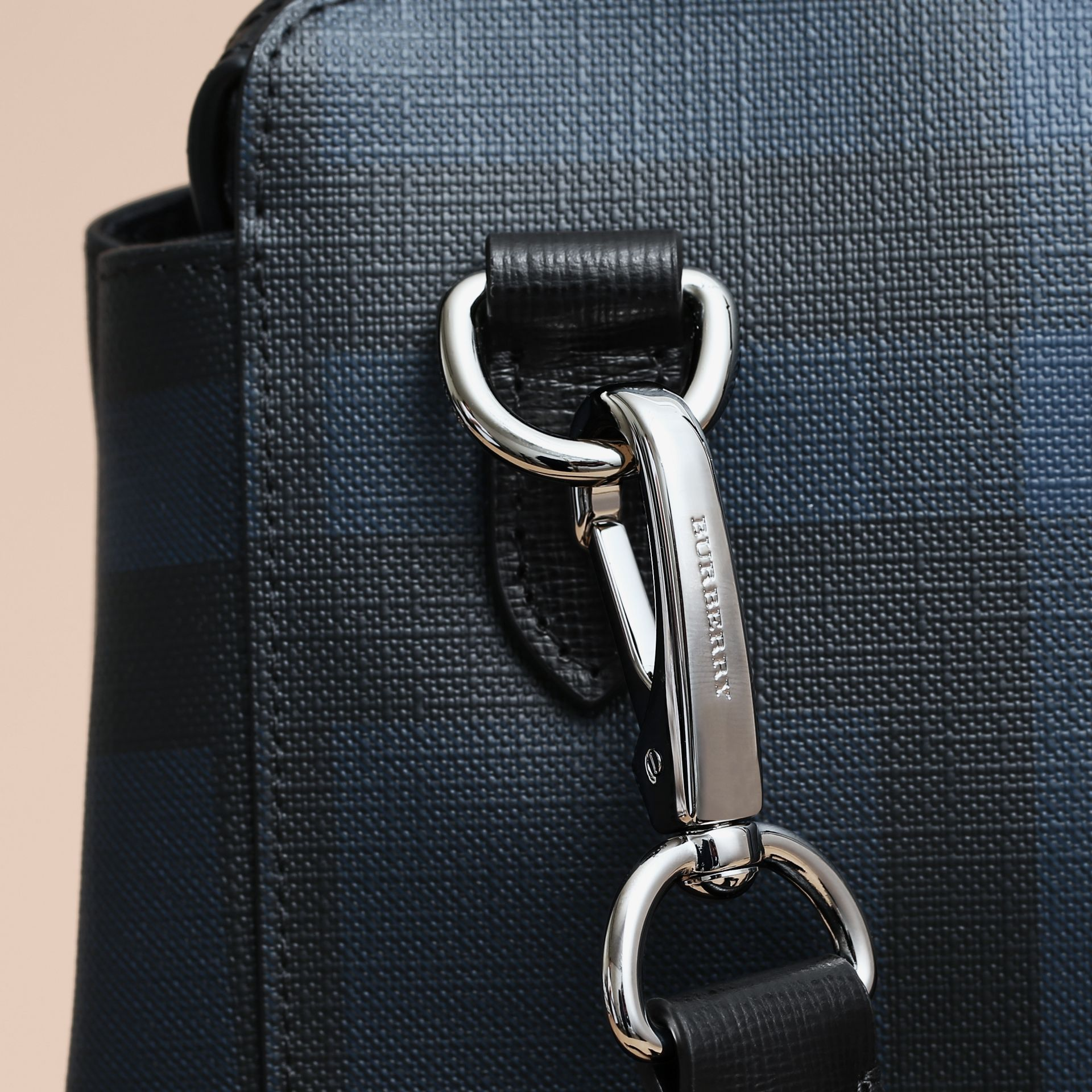 Large London Leather Briefcase in Dark Navy - Men | Burberry Singapore - gallery image 5