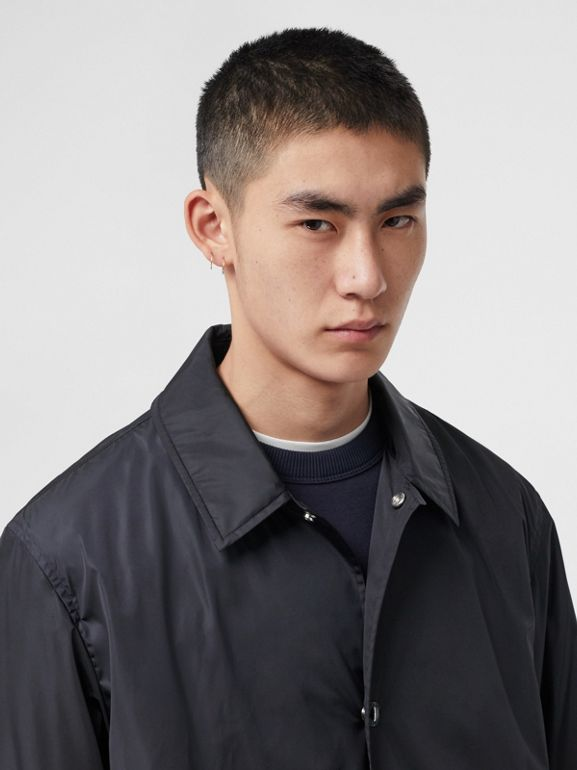 Detachable Hood Nylon Car Coat in Navy - Men | Burberry - cell image 1
