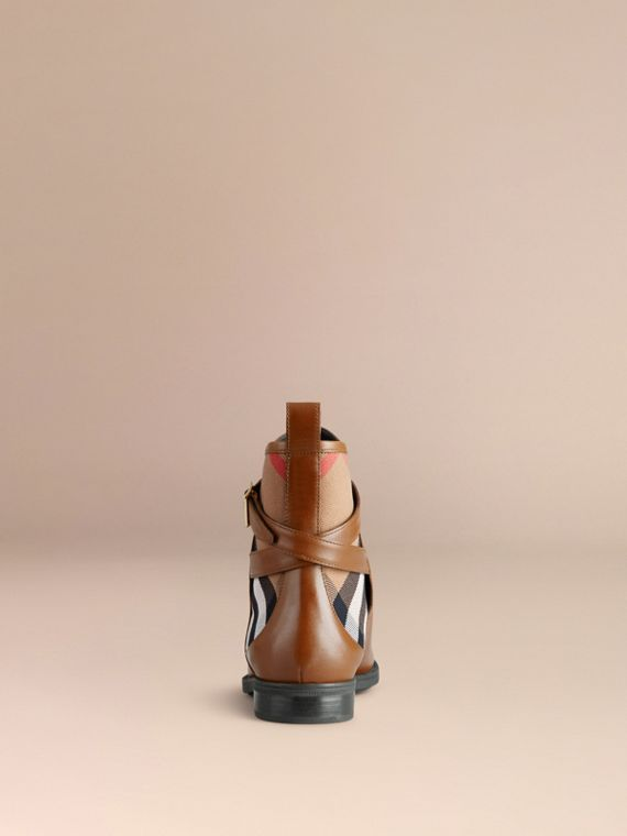 Chestnut House Check Leather Ankle Boots - cell image 3