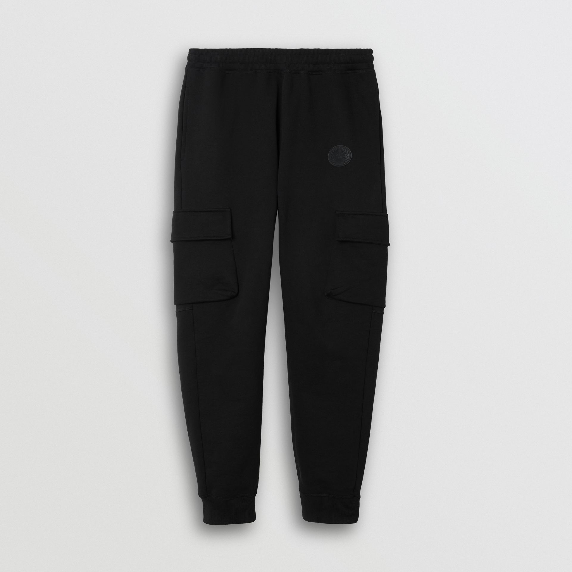 Pocket Detail Cotton Jersey Trackpants in Black - Men | Burberry Australia - gallery image 3