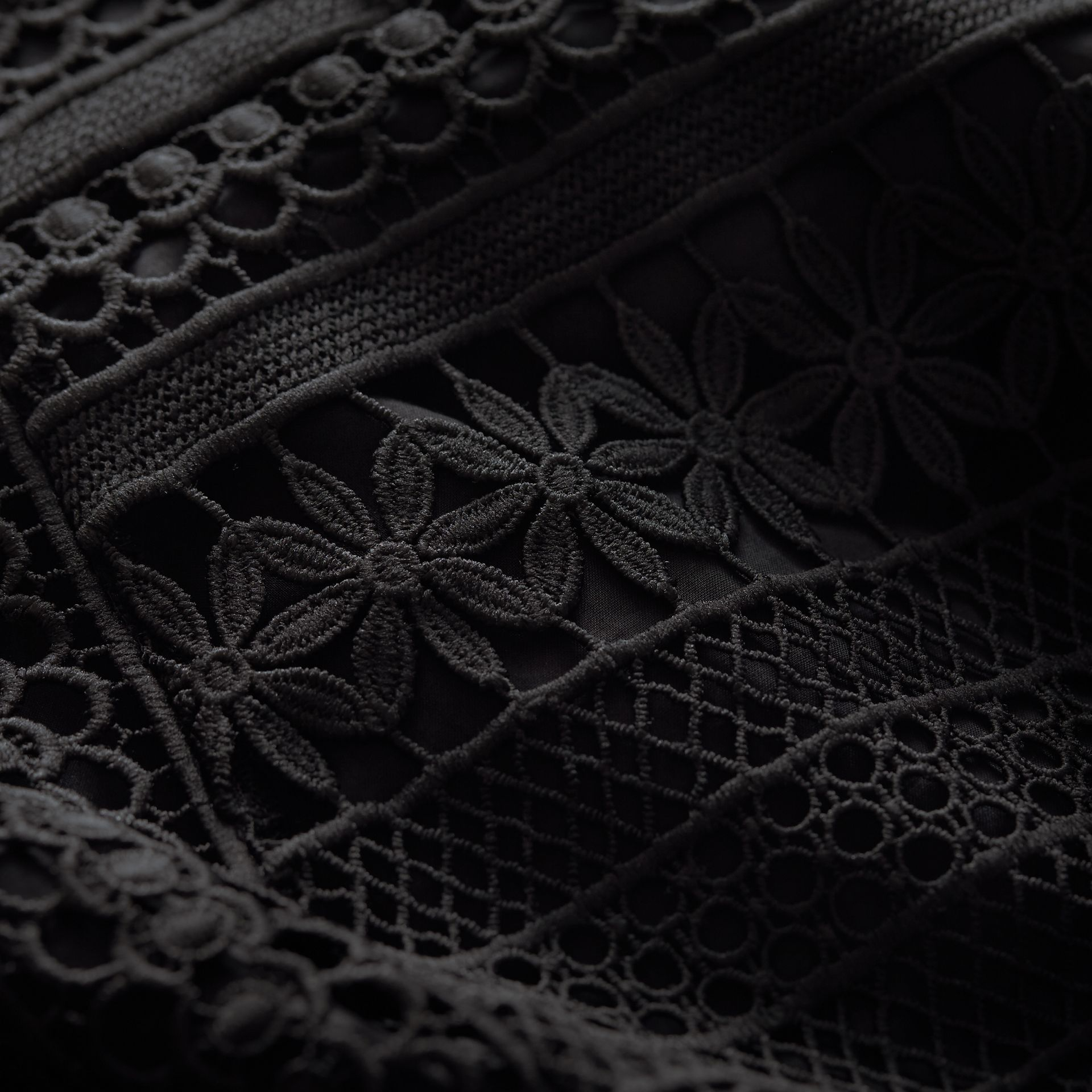 Puff-sleeve Macramé Lace Dress - Women | Burberry - gallery image 2