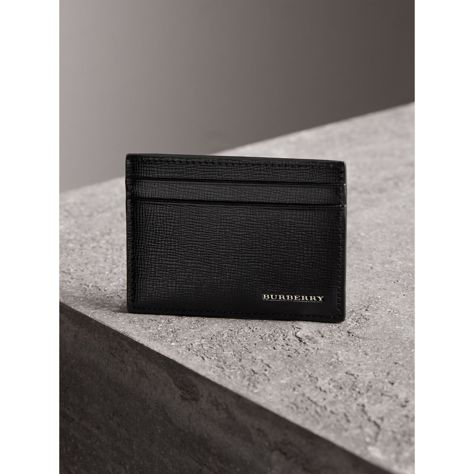 Beasts Motif Leather Card Case in Black - Men | Burberry - gallery image 3