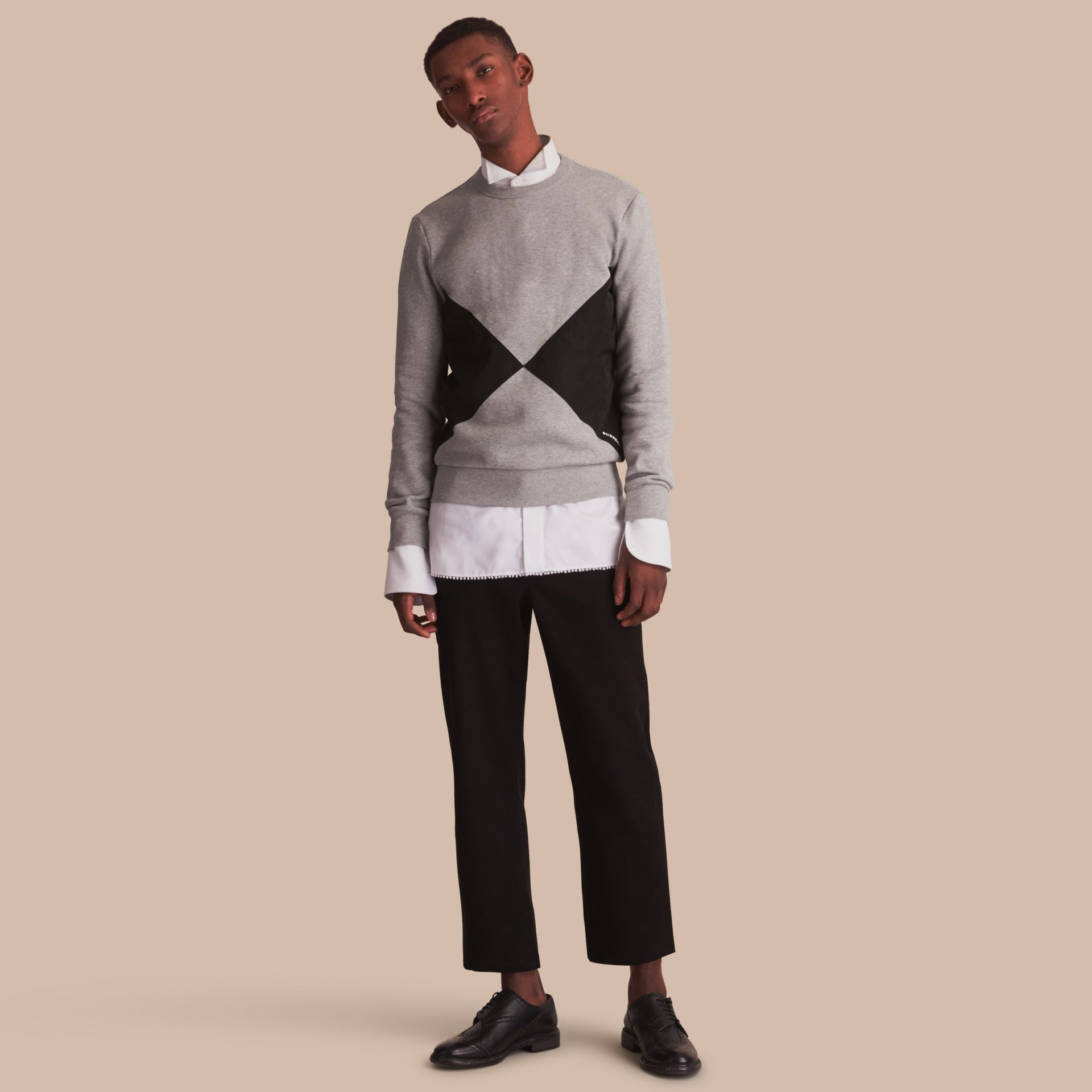 Overlaid Geometric Motif Sweatshirt - gallery image 1