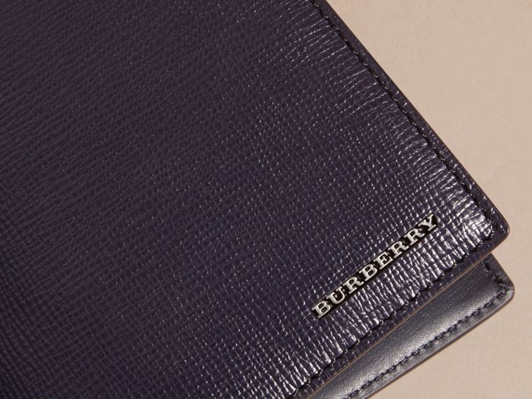 London Leather Passport and Card Holder in Dark Navy - Men | Burberry - cell image 1