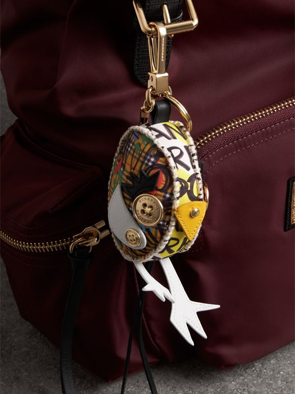 Derek The Bird Graffiti Print Cotton Charm in Yellow - Women | Burberry Hong Kong - cell image 2