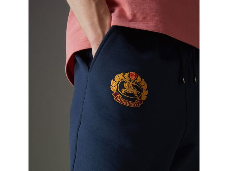 Archive Logo Jersey Sweatpants in Dark Blue - Men | Burberry Australia - cell image 1