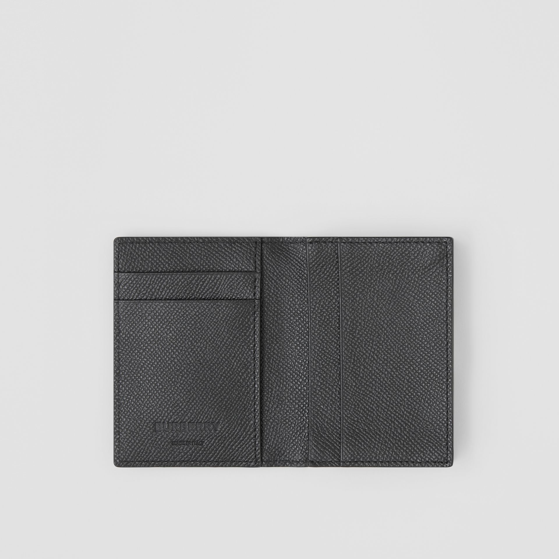 Grainy Leather Folding Card Case in Black - Men | Burberry Singapore - gallery image 2