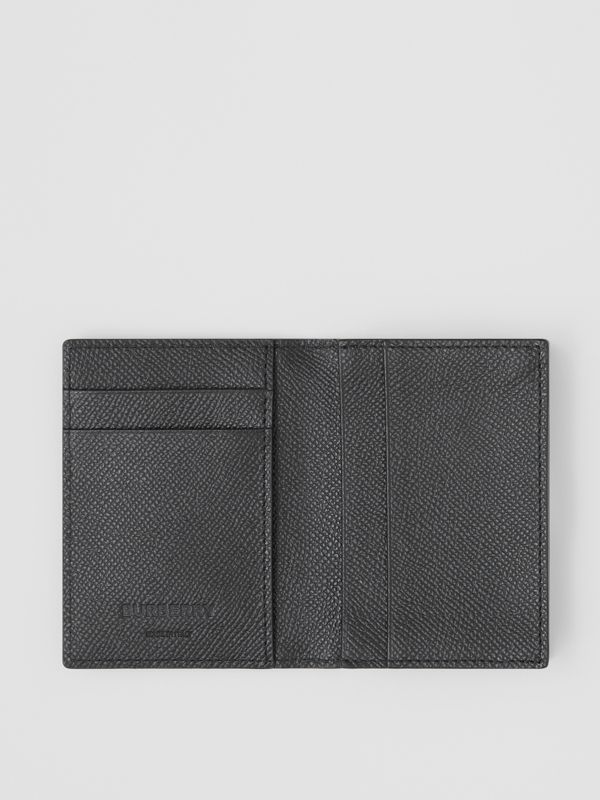 Grainy Leather Folding Card Case in Black - Men | Burberry Singapore - cell image 2