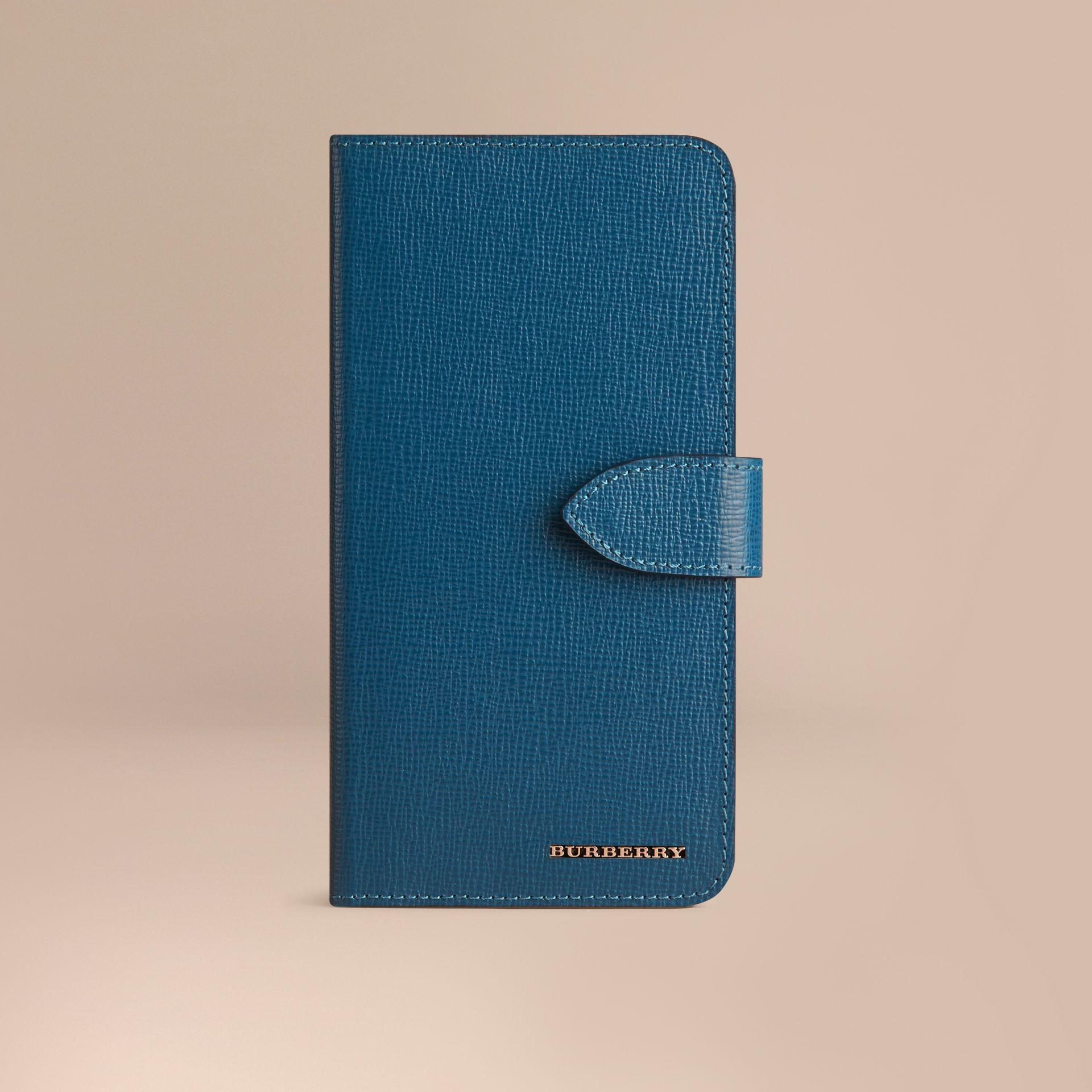 Blu minerale Custodia a libro in pelle London per iPhone 6 Plus Blu Minerale - immagine della galleria 1