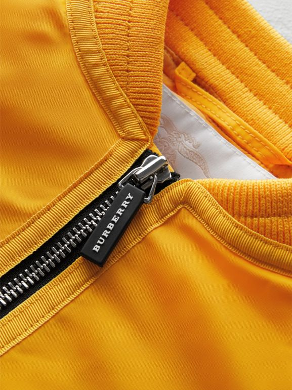 Lightweight Nylon Bomber Jacket in Bright Yellow | Burberry - cell image 1