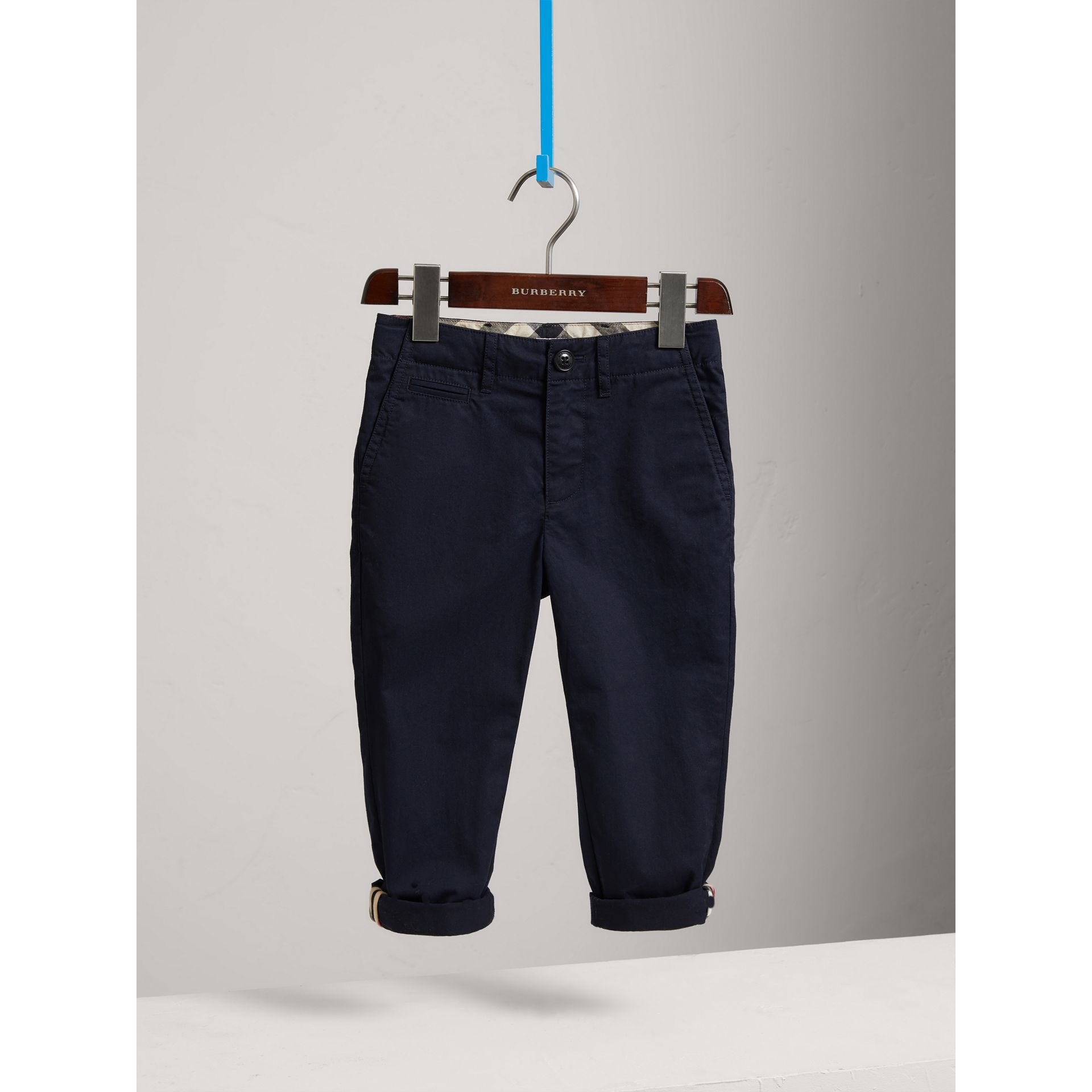 Cotton Chinos in Ink - Boy | Burberry United States - gallery image 3