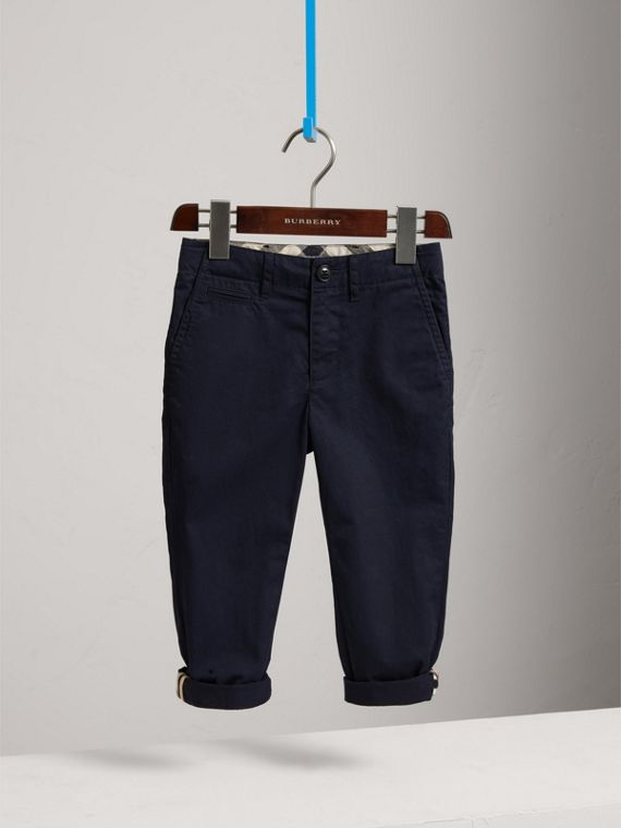 Cotton Chinos in Ink - Boy | Burberry United States - cell image 2