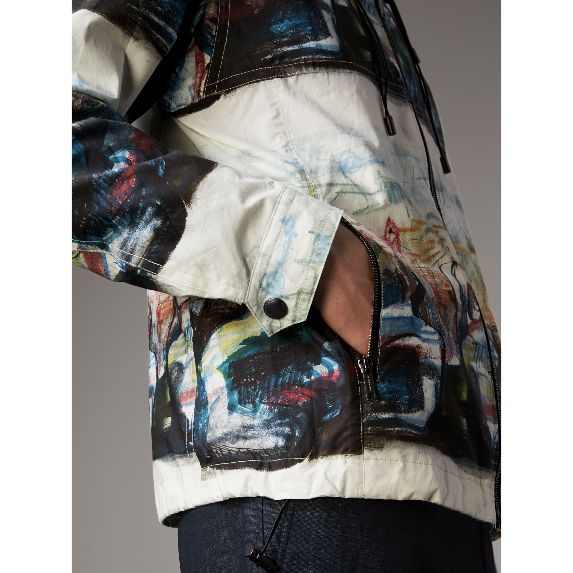 Reclining Figure: Bunched Print Hooded Jacket - Men | Burberry - gallery image 5