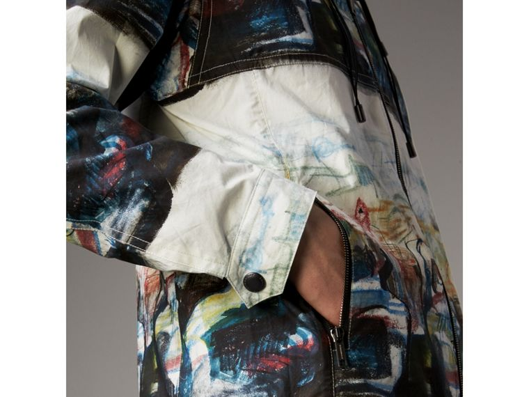 Reclining Figure: Bunched Print Hooded Jacket - Men | Burberry - cell image 4
