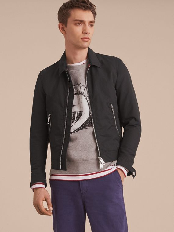 Cotton Blend Cropped Jacket - Men | Burberry
