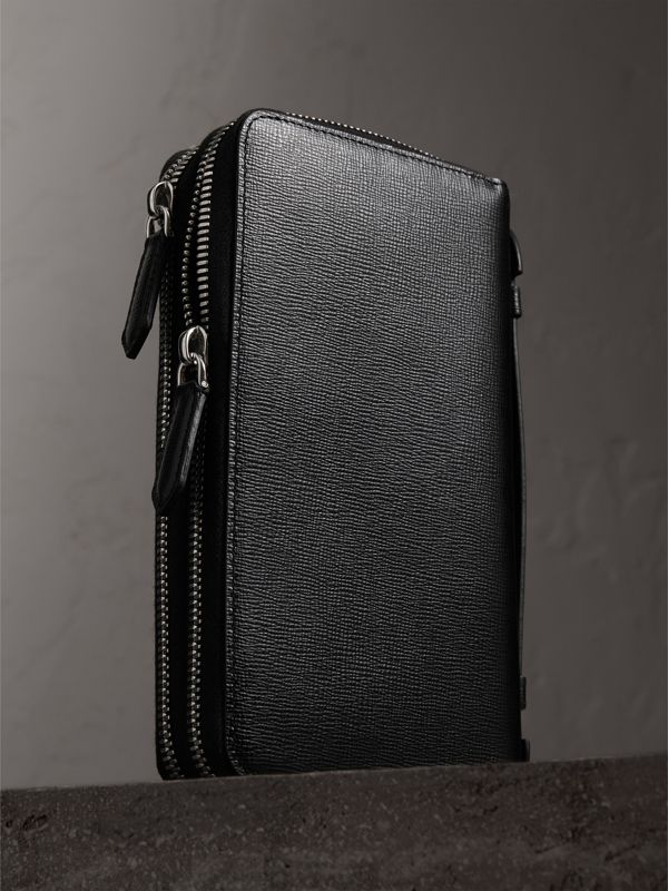 London Leather Travel Wallet in Black - Men | Burberry United Kingdom - cell image 2