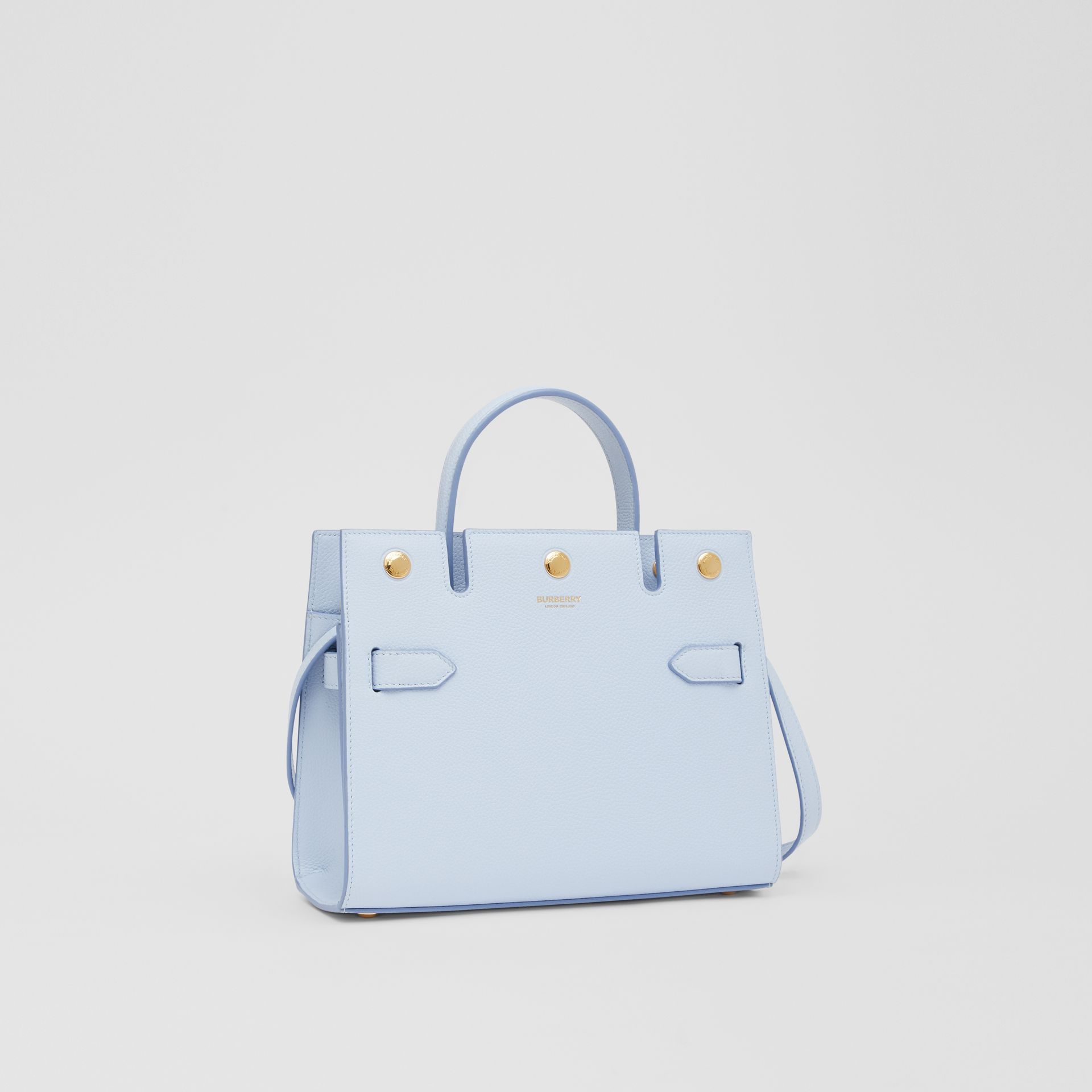 Mini Leather Title Bag in Pale Blue   Burberry United Kingdom - gallery image 6