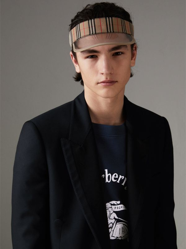 1983 Check Visor in Dark Sand | Burberry Canada - cell image 3