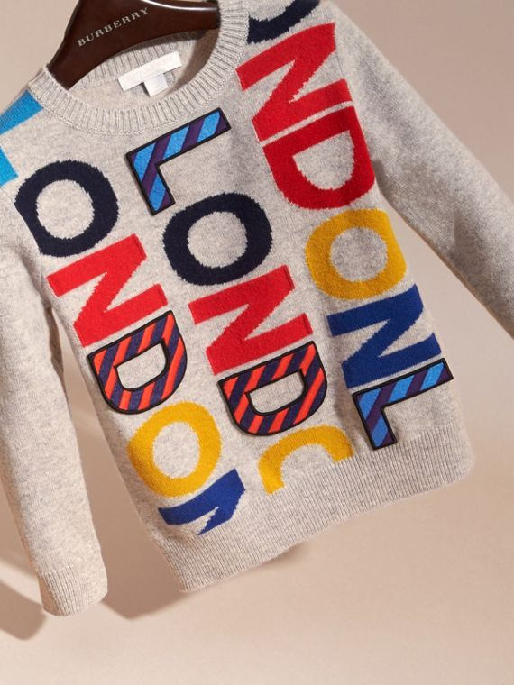 London Intarsia Cashmere Sweater - cell image 2