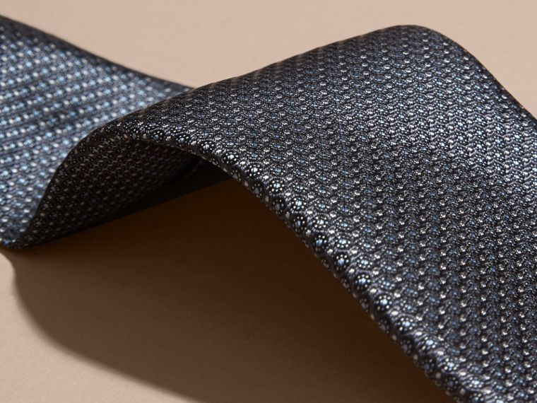 Mid grey Modern Cut Patterned Silk Tie Mid Grey - cell image 1