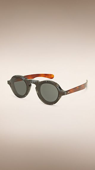 Colour Block Round Frame Sunglasses