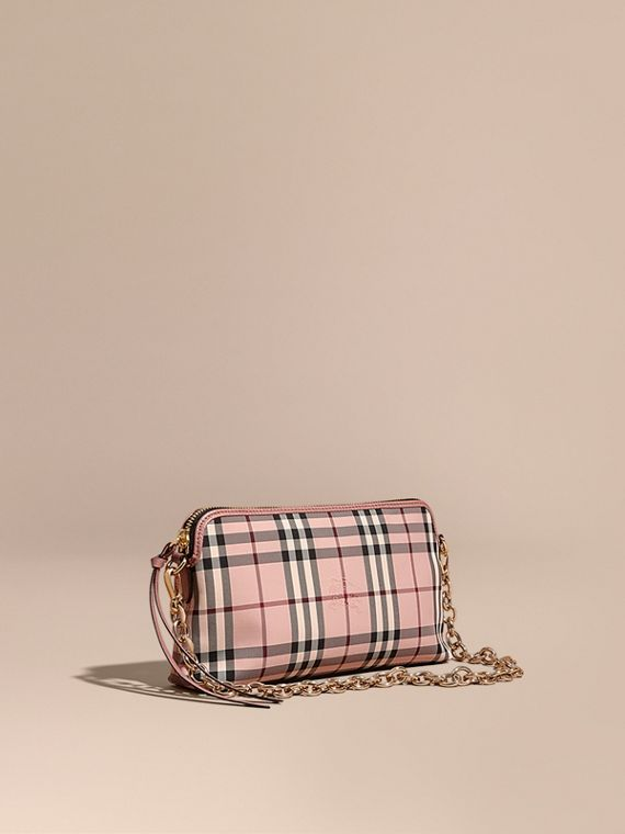Overdyed Horseferry Check and Leather Clutch Bag