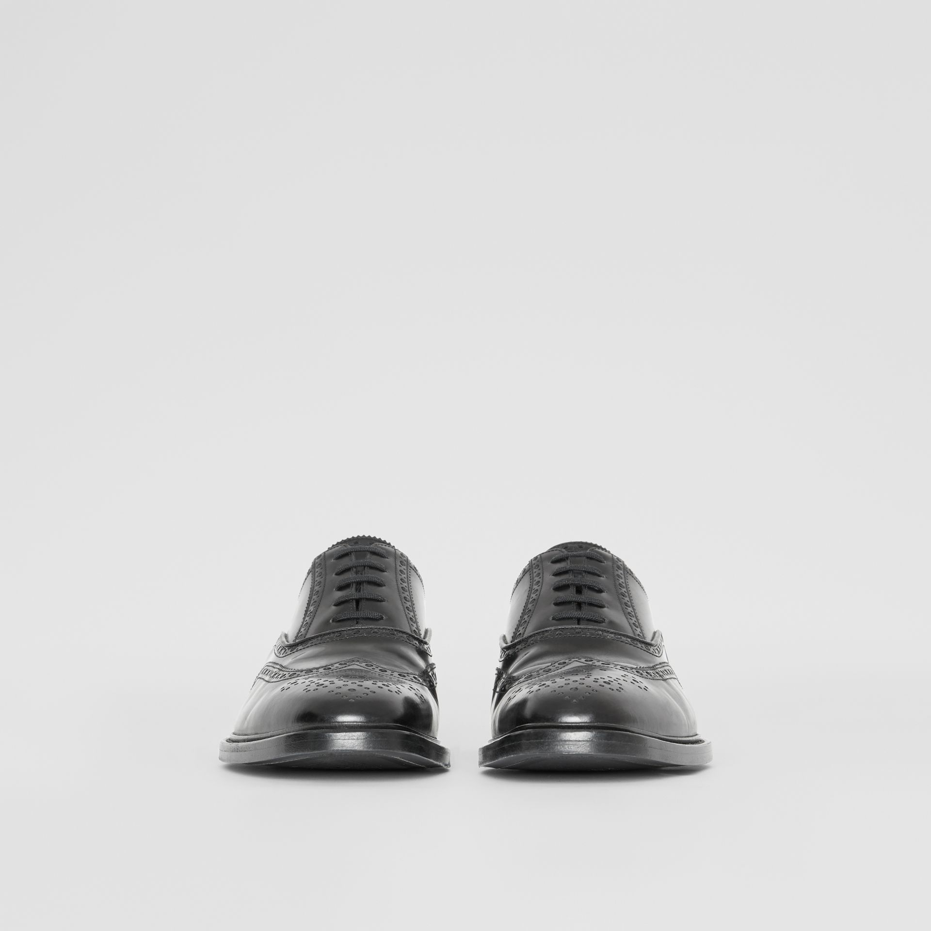Leather Oxford Brogues in Black | Burberry - gallery image 3