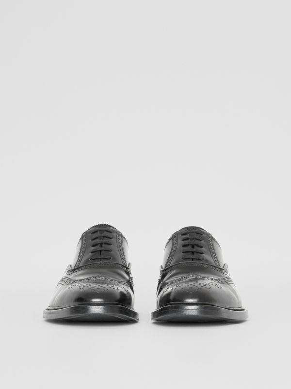 Leather Oxford Brogues in Black | Burberry United States - cell image 3