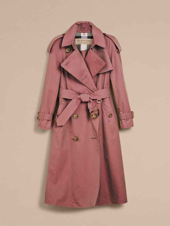 Trench coat in gabardine tropicale (Rosa Antico) - Donna | Burberry - cell image 3
