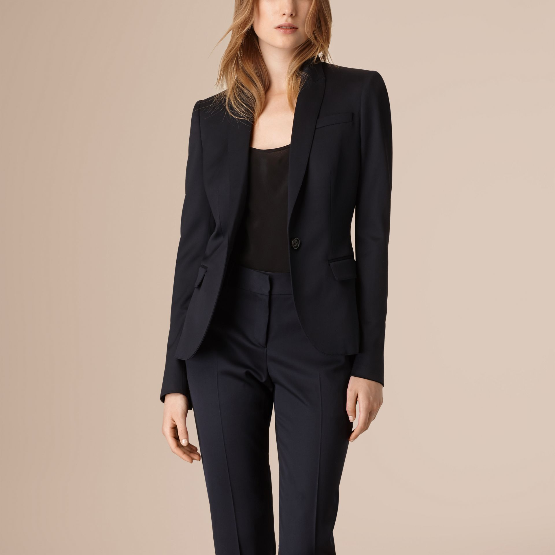 Ink Wool Blend Tuxedo Jacket - gallery image 1