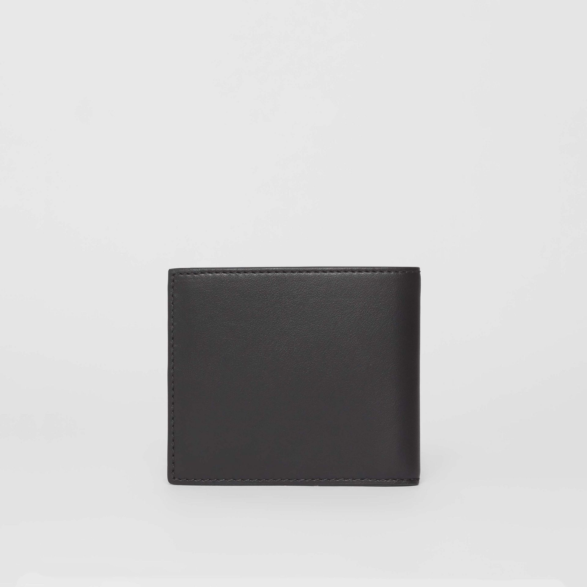 Horseferry Print Leather International Bifold Wallet in Black - Men | Burberry Australia - gallery image 4
