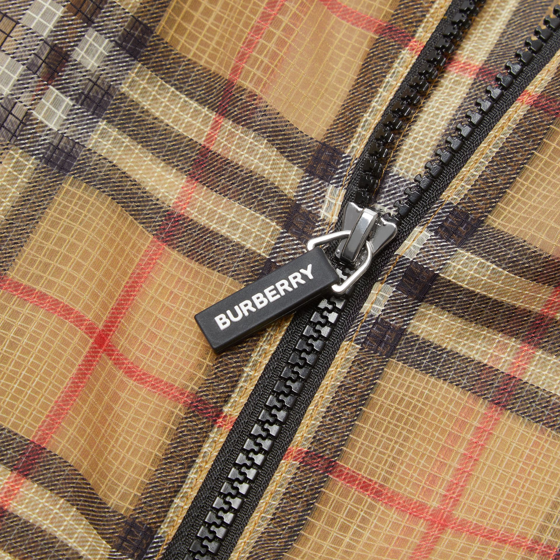 Lightweight Vintage Check Hooded Jacket in Antique Yellow | Burberry Canada - gallery image 1