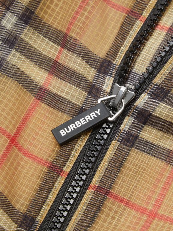 Lightweight Vintage Check Hooded Jacket in Antique Yellow | Burberry - cell image 1