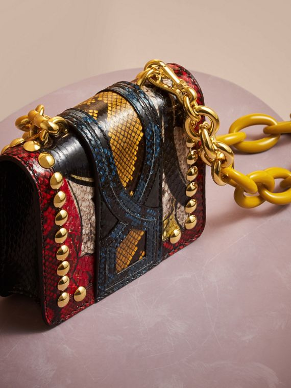 The Mini Square Buckle Bag in Calfskin and Riveted Snakeskin - cell image 3