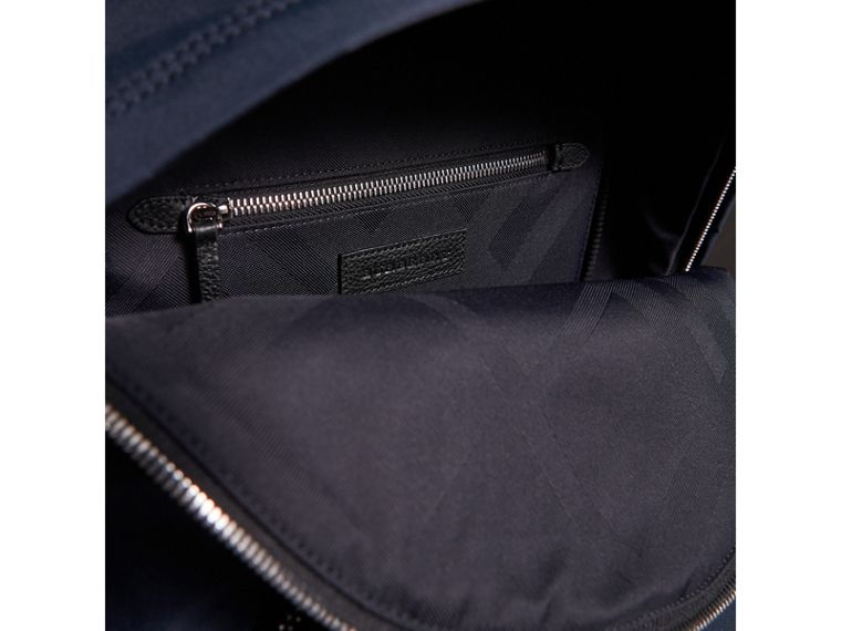 Leather Trim Nylon Backpack in Dark Navy - Men | Burberry United Kingdom - cell image 4