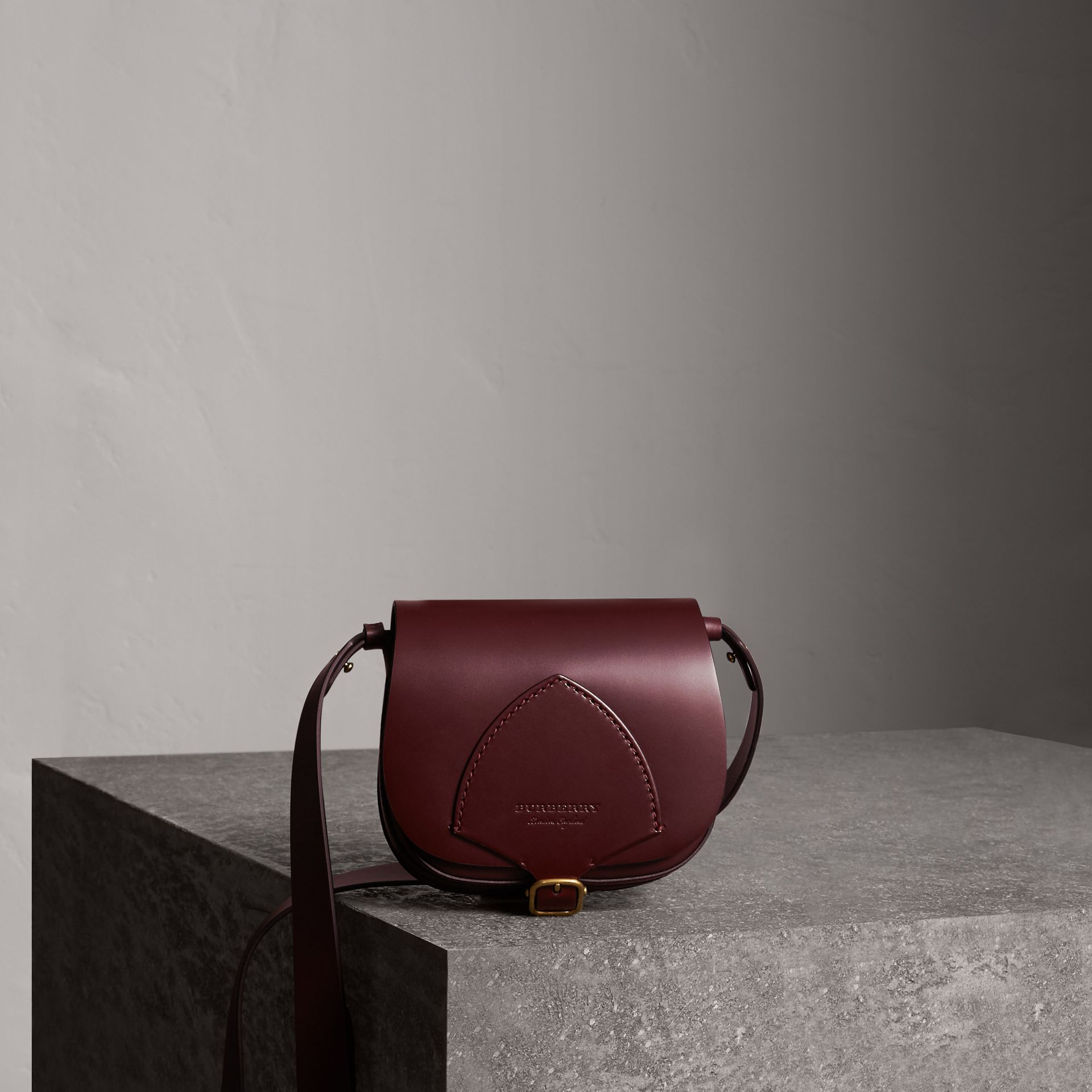 The Satchel in Bridle Leather in Deep Claret - Women | Burberry Australia - gallery image 0