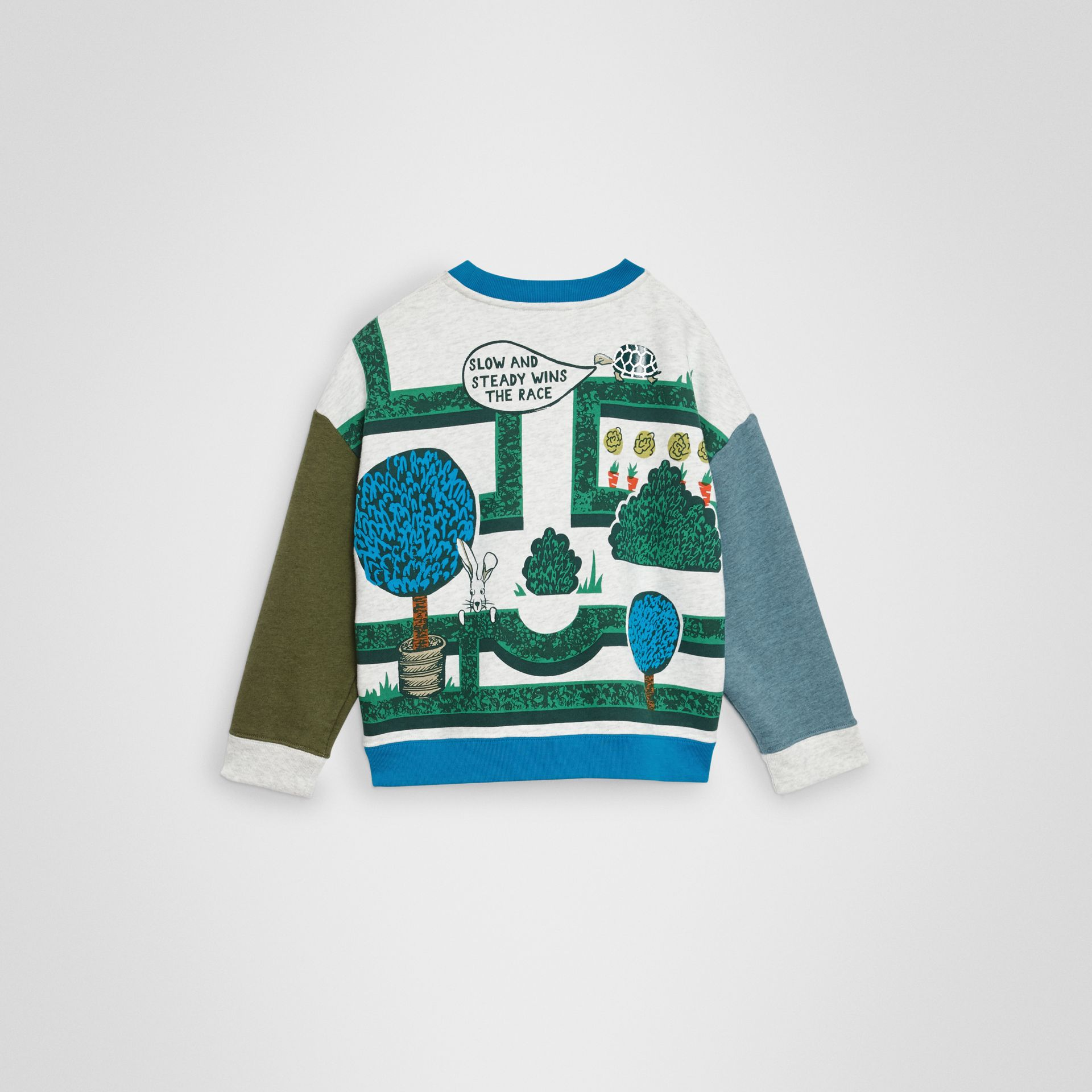 Hedge Maze Print Cotton Sweatshirt in Multicolour | Burberry Australia - gallery image 4