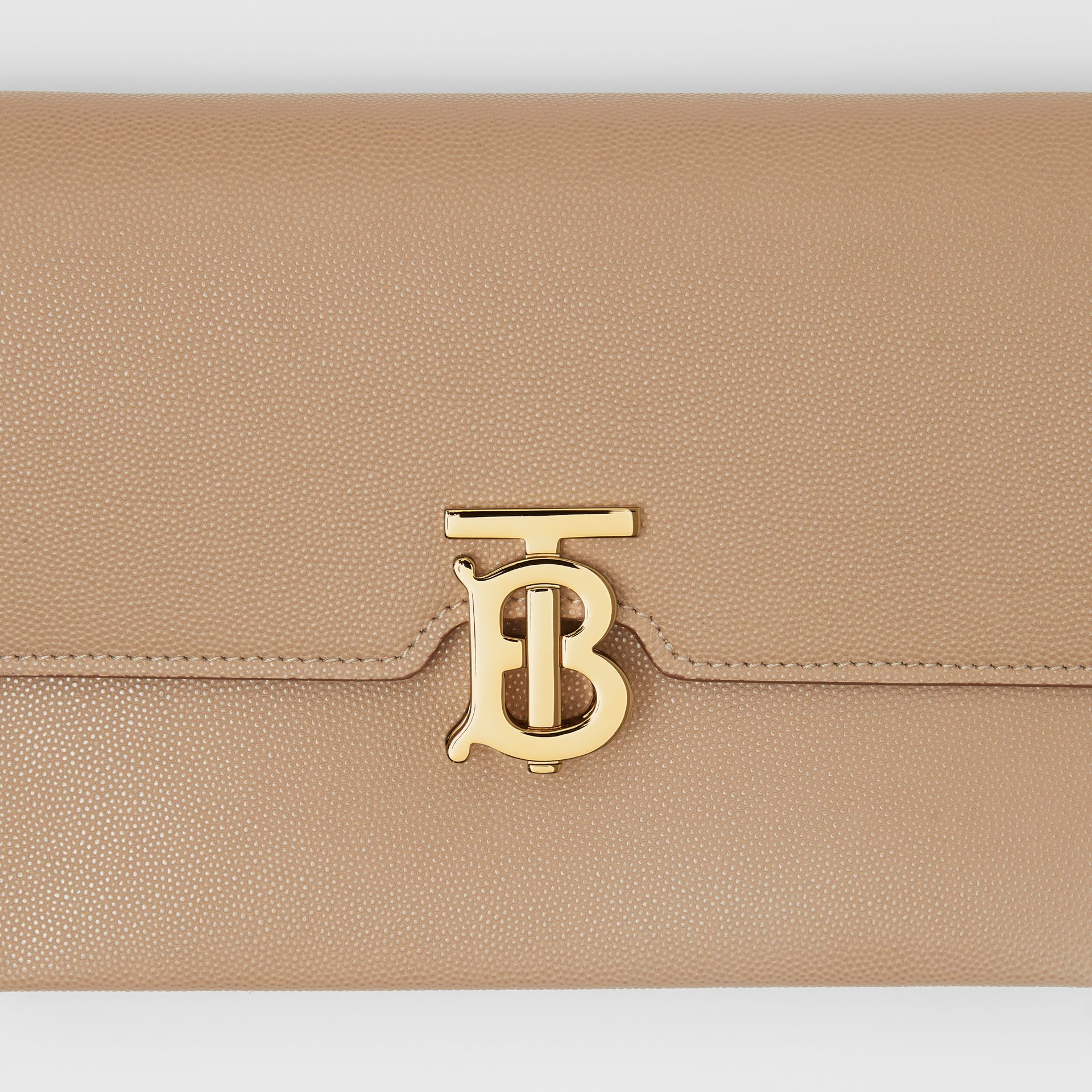 Small Monogram Motif Leather Crossbody Bag in Archive Beige - Women | Burberry Canada - gallery image 1