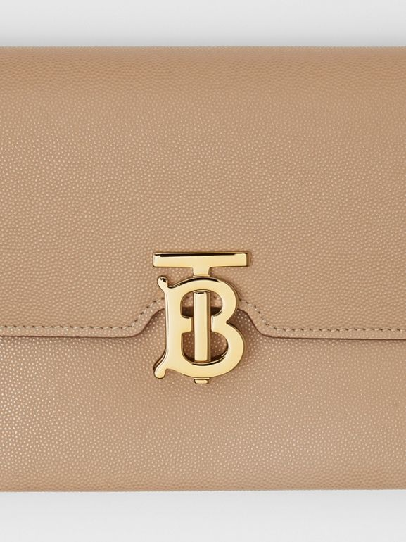 Small Monogram Motif Leather Crossbody Bag in Archive Beige - Women | Burberry Canada - cell image 1