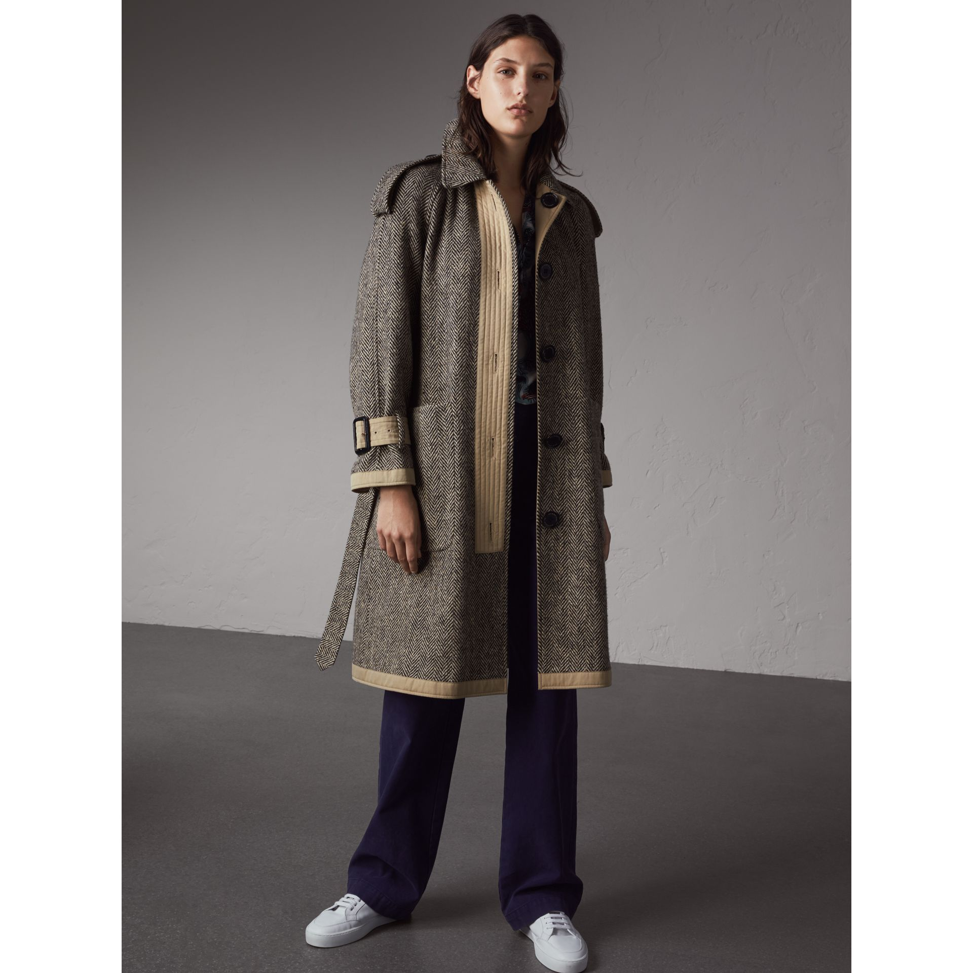 Reversible Donegal Tweed and Gabardine Trench Coat - Women | Burberry - gallery image 6