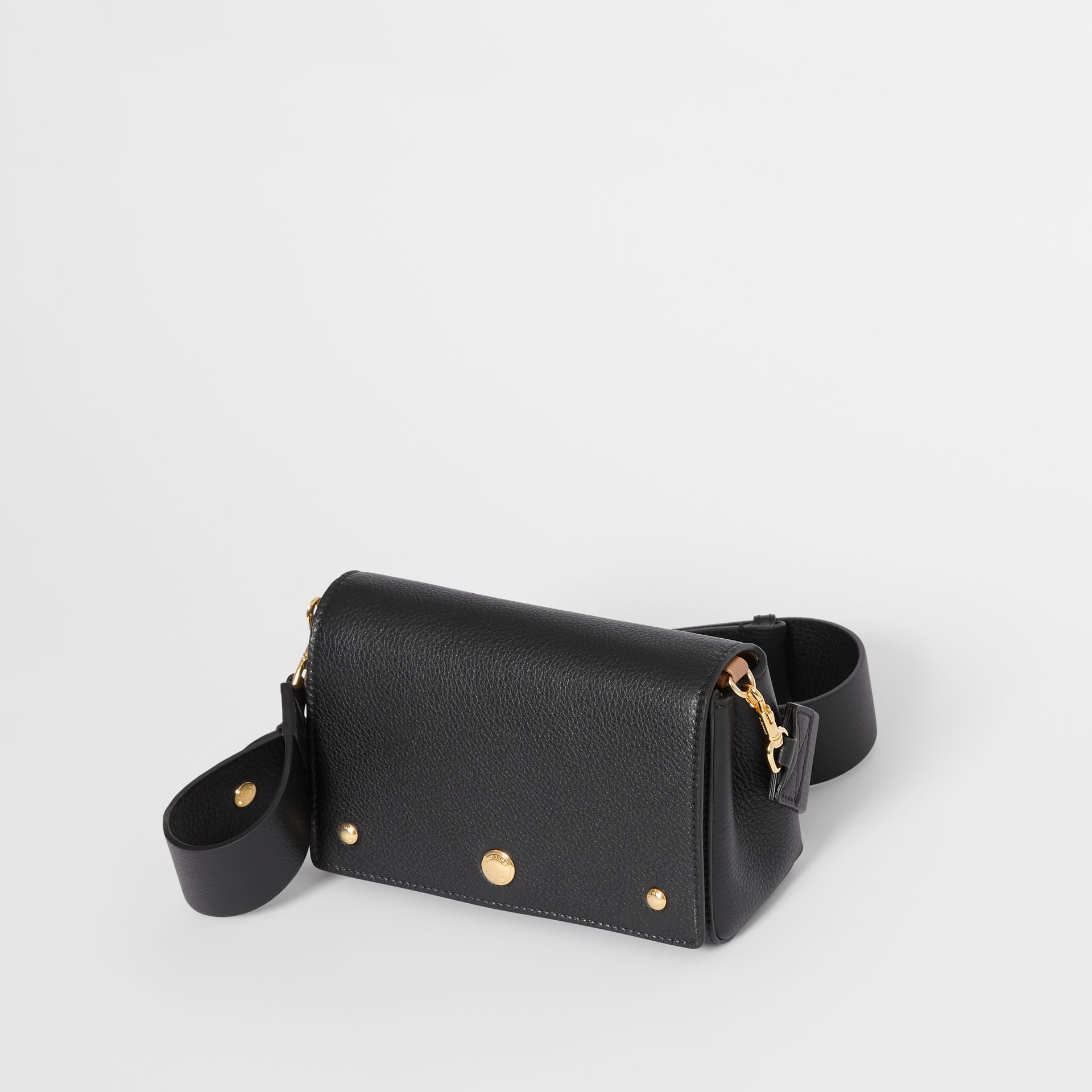 Small Grainy Leather Crossbody Bag in Black - Women | Burberry Singapore - gallery image 3