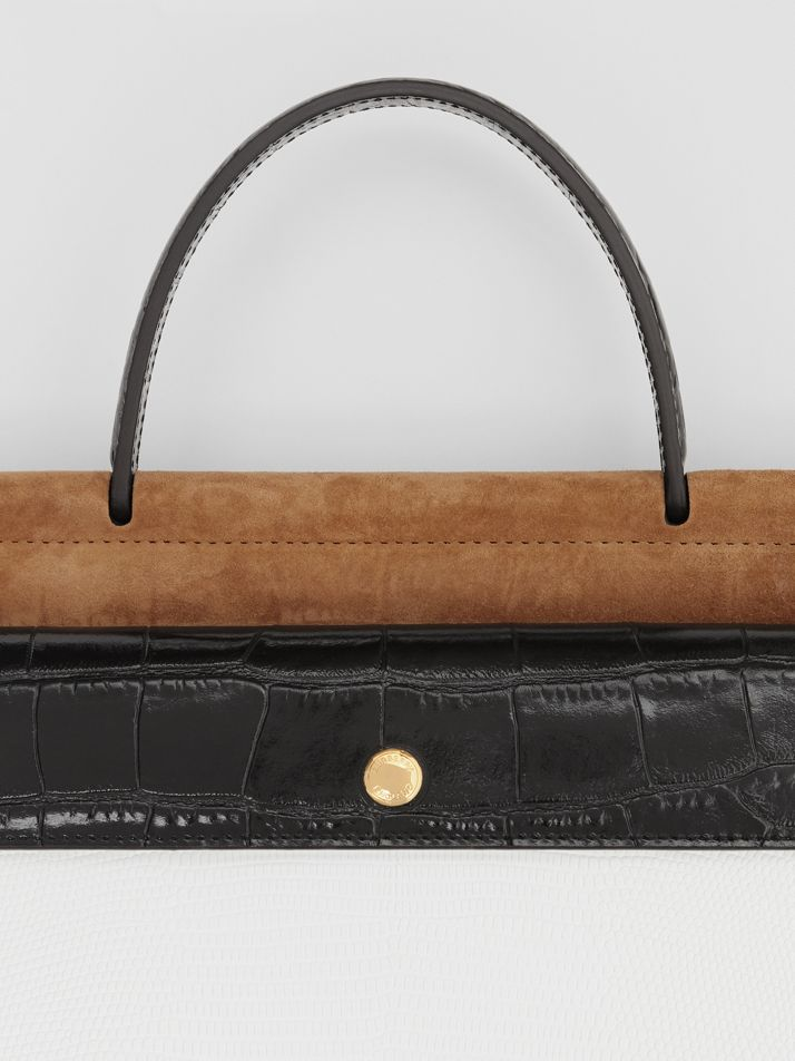 Small Deerskin Title Bag with Pocket Detail