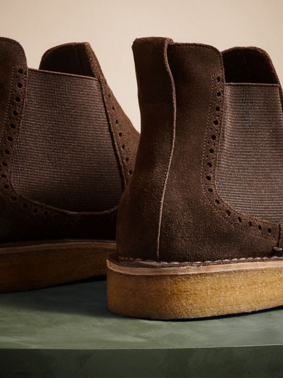 Peat brown Washed-suede Chelsea Boots with Crepe Soles - cell image 3