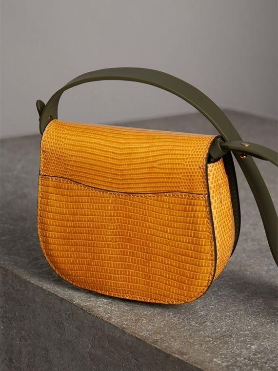 The Satchel in Lizard in Amber Yellow - Women | Burberry Australia - cell image 3