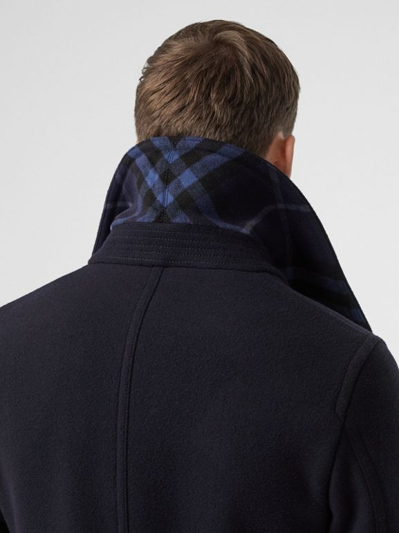 Wool Blend Pea Coat in Navy - Men | Burberry - cell image 1