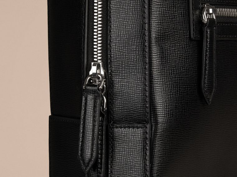 Black London Leather Backpack Black - cell image 4
