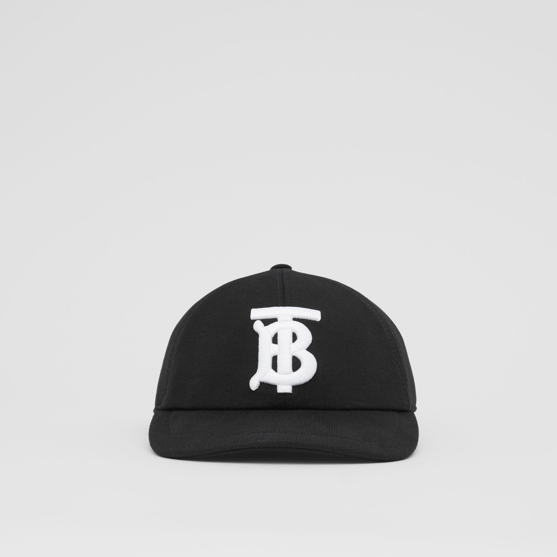 Monogram Motif Cotton Jersey Baseball Cap in Black | Burberry Hong Kong S.A.R - gallery image 0