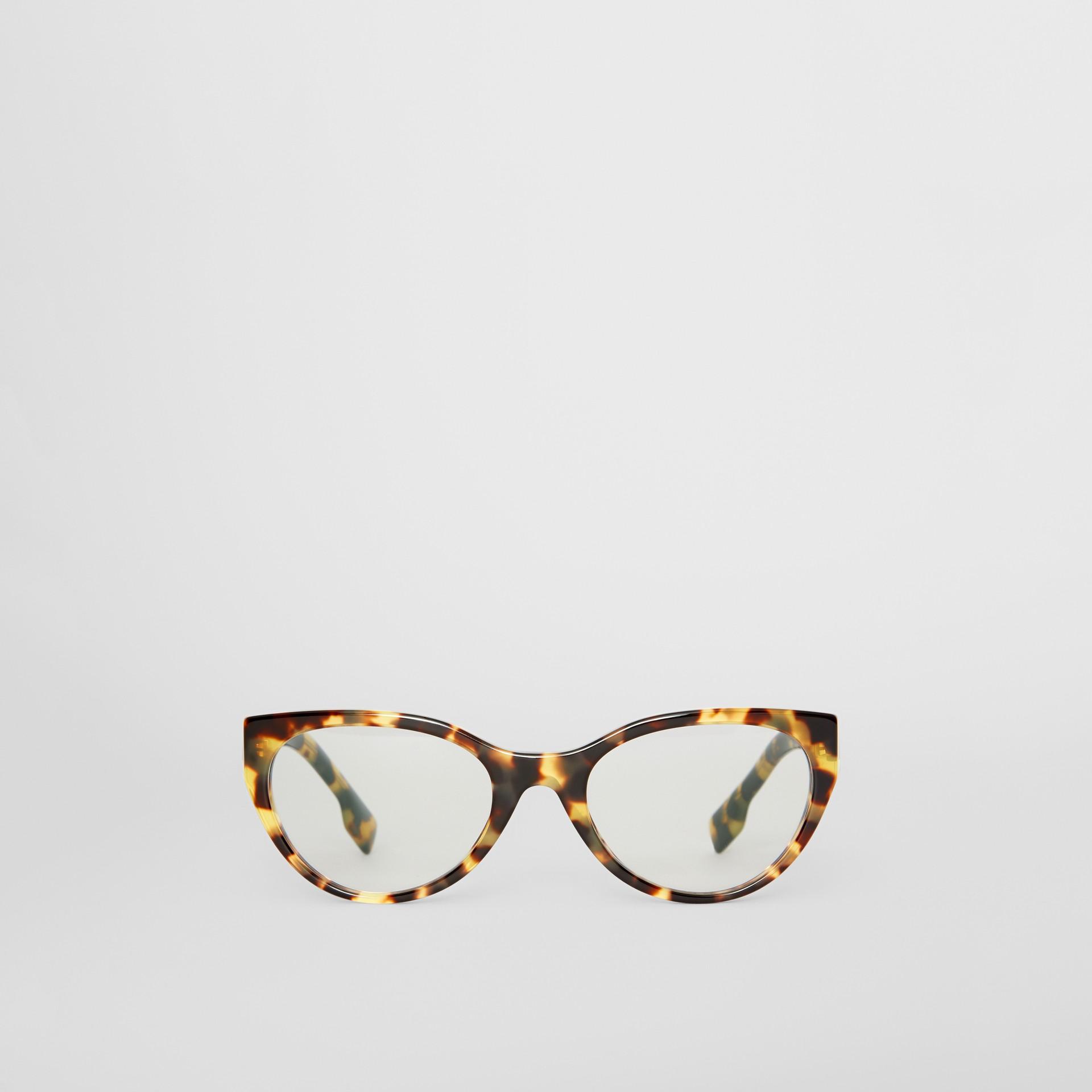 Cat-eye Optical Frames in Tortoise Shell - Women | Burberry - gallery image 0