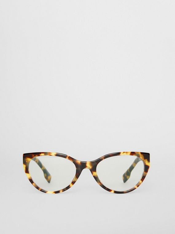Cat-eye Optical Frames in Tortoise Shell